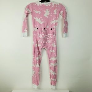 Lazy One Size 6 Long johns Kid Don't Moose With Me